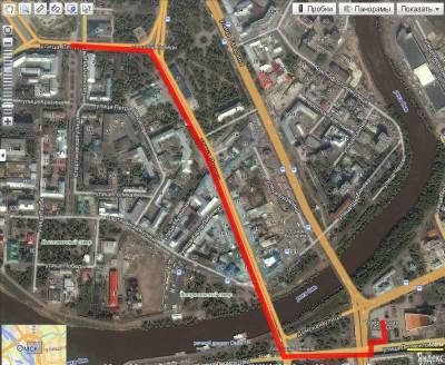 Карта-схема маршрута Марша Регионов 4 ноября в Омске