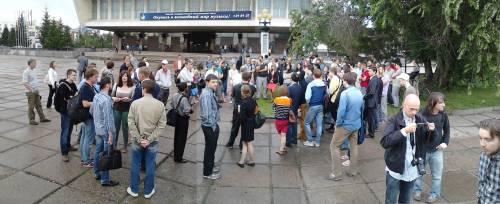 Собрание на Театральной площади в День Навального